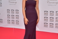 Evanna Lynch arriving on the red carpet at the Mansion House for the IFTA Film & Drama Awards 2016. Photo by Michael Chester