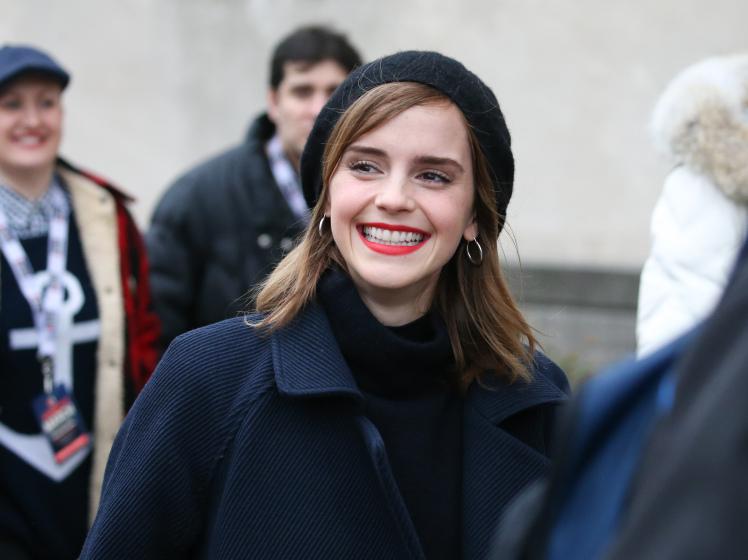 Emma Watson attends the Women's march in Washington D.C