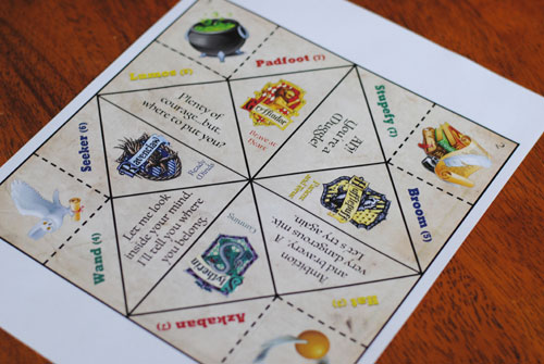 Origami Fortune Teller Printable Template
