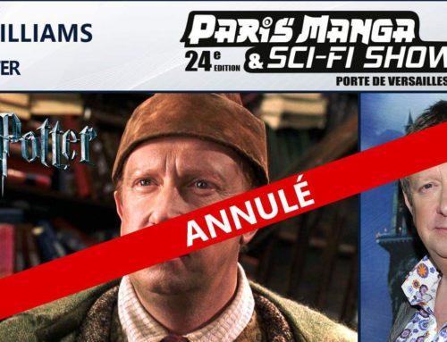 Mark Williams (Arthur Wealsey) annule sa venue en France de cet Automne !