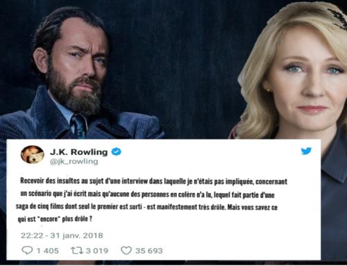 """JK Rowling répond aux critiques après les propos concernant la sexualité de Dumbledore dans """"Les Crimes de Grindelwald"""""""