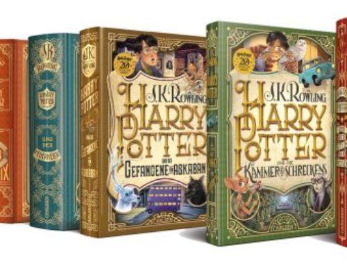 De toutes nouvelles couvertures allemandes pour l'anniversaire des 20 ans de la saga Harry Potter.