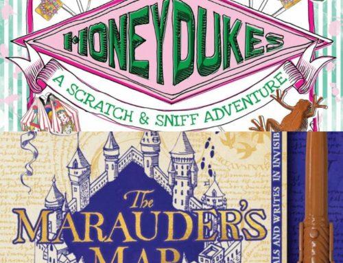 Gallimard publiera le livre olfactif sur Honeydukes et la Carte du Maraudeur interactive de Scholastic !