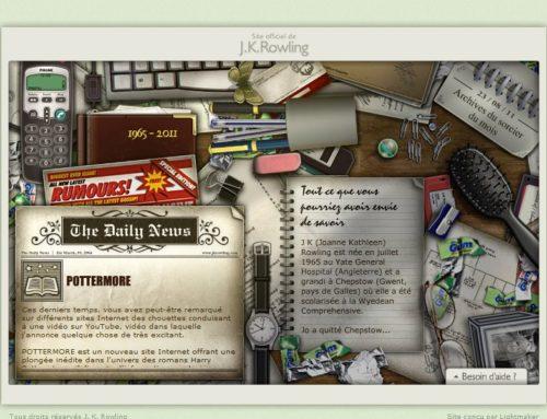 La toute première version du site officiel de l'auteure, le jkrowling.com, de nouveau en ligne !